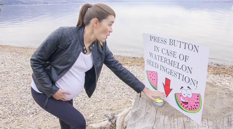 Das passiert, wenn ihr Wassermelonen-Kerne esst schwangerschaft-timelapse-wassermelone