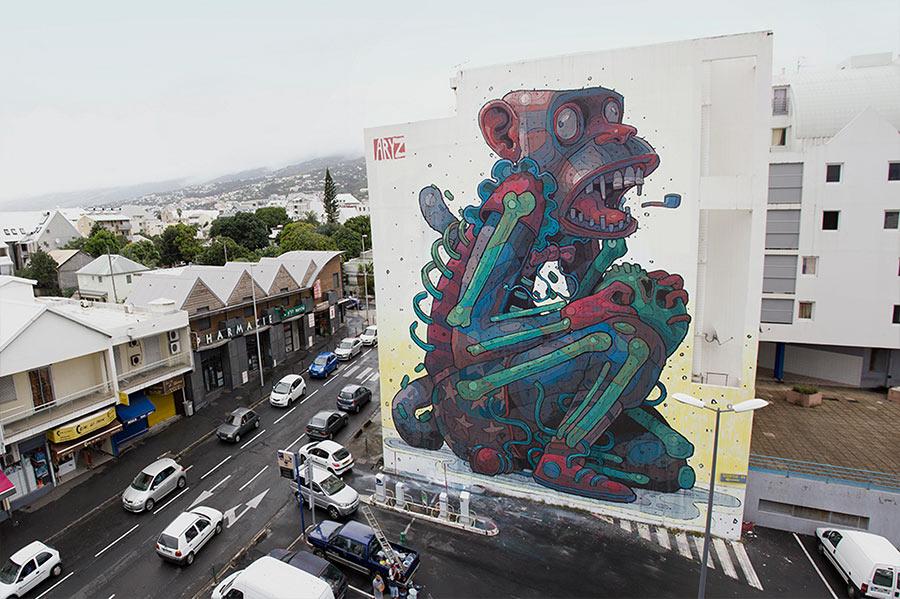 Street Art: Aryz street-art-aryz_02