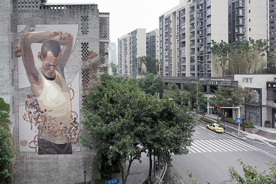 Street Art: Aryz street-art-aryz_13