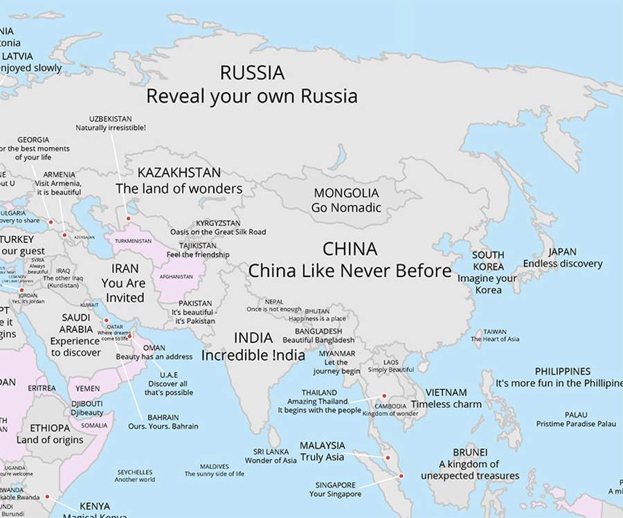 Tourismus-Slogans aller Länder auf einer Karte tourismus-claims-aus-aller-welt_04