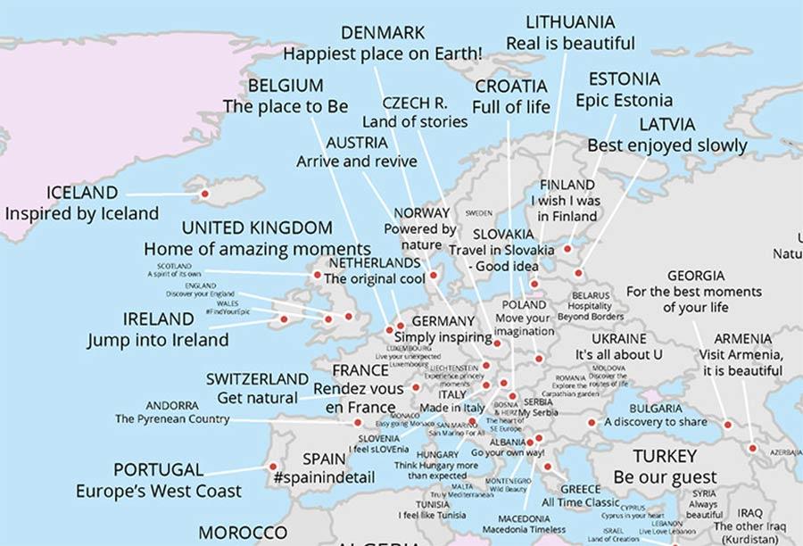 Tourismus-Slogans aller Länder auf einer Karte tourismus-claims-aus-aller-welt_05