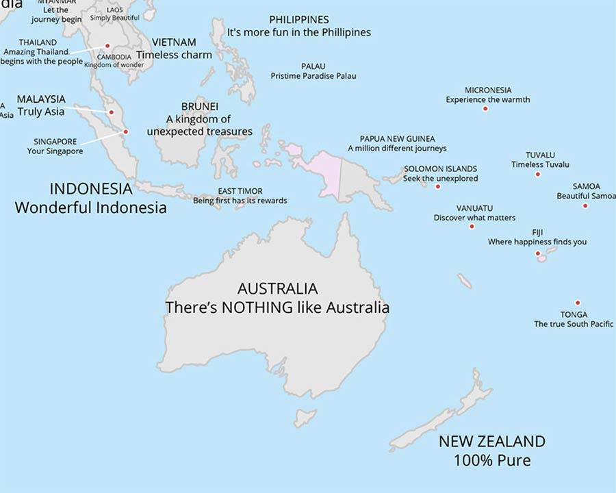 Tourismus-Slogans aller Länder auf einer Karte tourismus-claims-aus-aller-welt_06