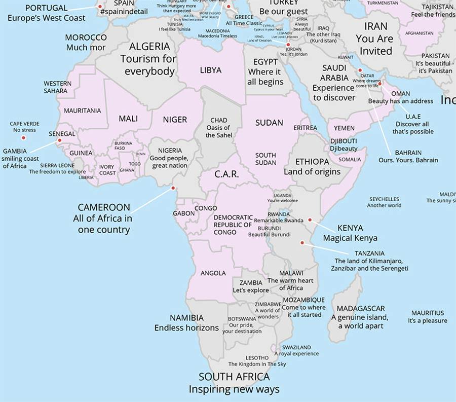 Tourismus-Slogans aller Länder auf einer Karte tourismus-claims-aus-aller-welt_07