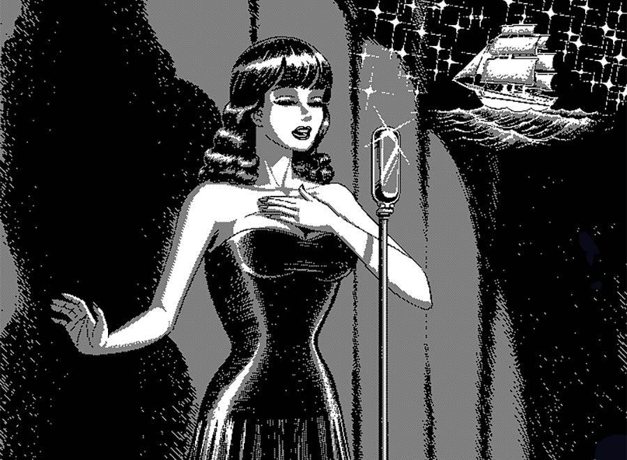 Schwarz-Weiß-Pixelkunst von Uno Moralez