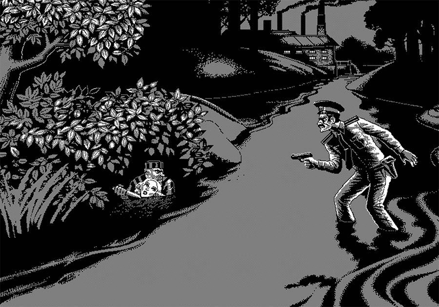 Schwarz-Weiß-Pixelkunst von Uno Moralez uno-moralez_04