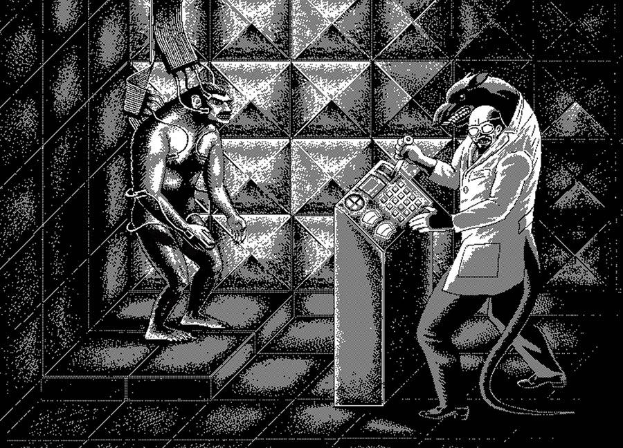 Schwarz-Weiß-Pixelkunst von Uno Moralez uno-moralez_05
