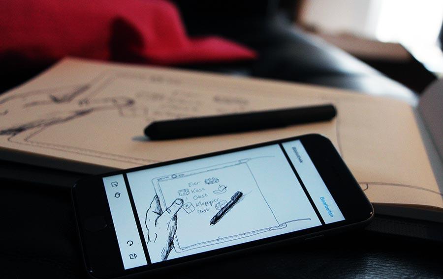 Das Bamboo Slate digitalisiert deine Zeichnungen auf Knopfdruck