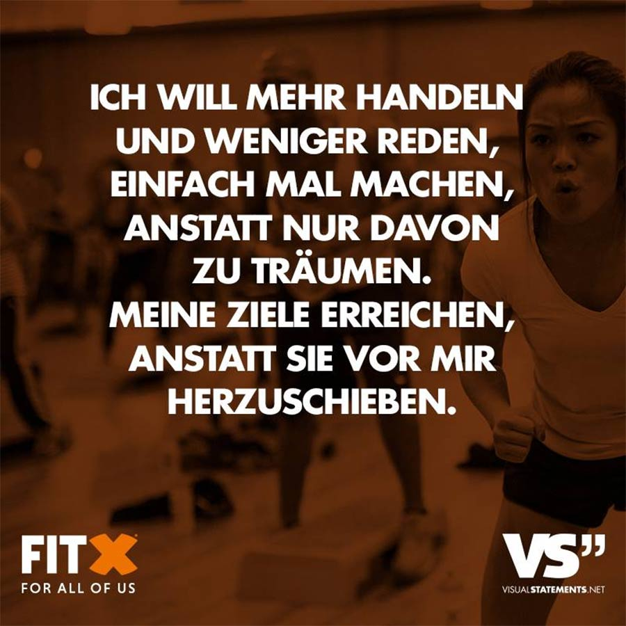 Schluss mit dem Vorsatz-Aktionismus! FitX_VS