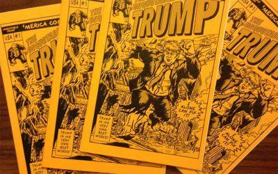 Donald Trump als Comicbösewicht