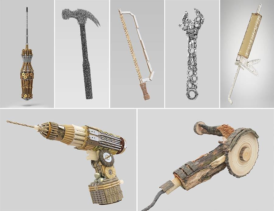 Hammer aus Nägeln Tools_Barrera-Montenegro_07