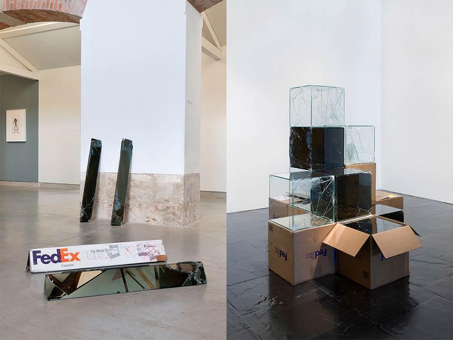 Ungeschützt verschicktes Glas wird zu gesprungener Kunst Waled-Beshty-FedEx-glass_05