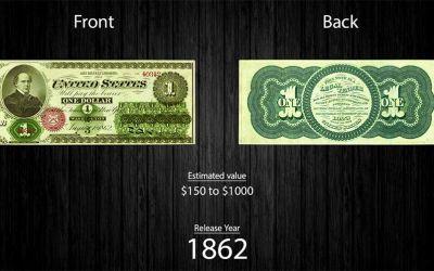 Die Evolution des Ein-Dollar-Scheines