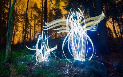 Coole Lightpaintings von Hannu Huhtamo