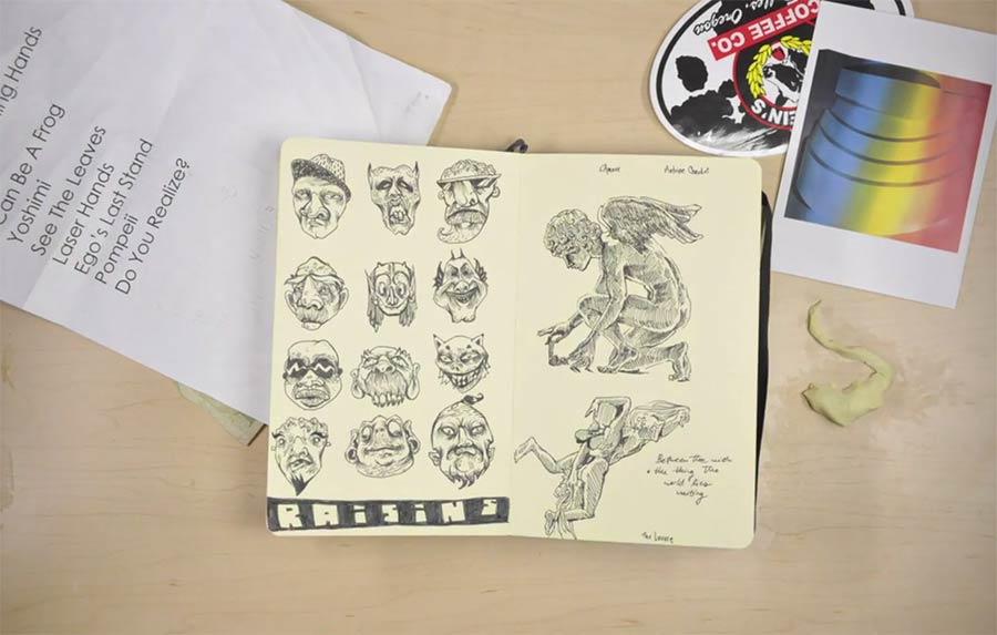 Animierte Skizzenbücher