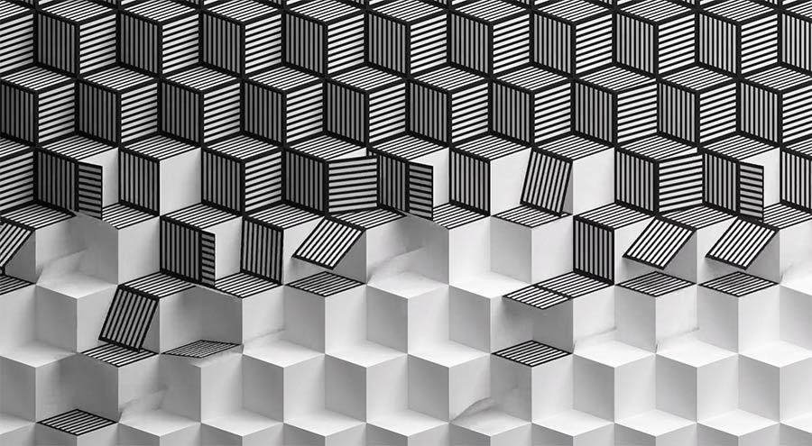 Die Schönheit entfaltender Papiermuster paper-patterns