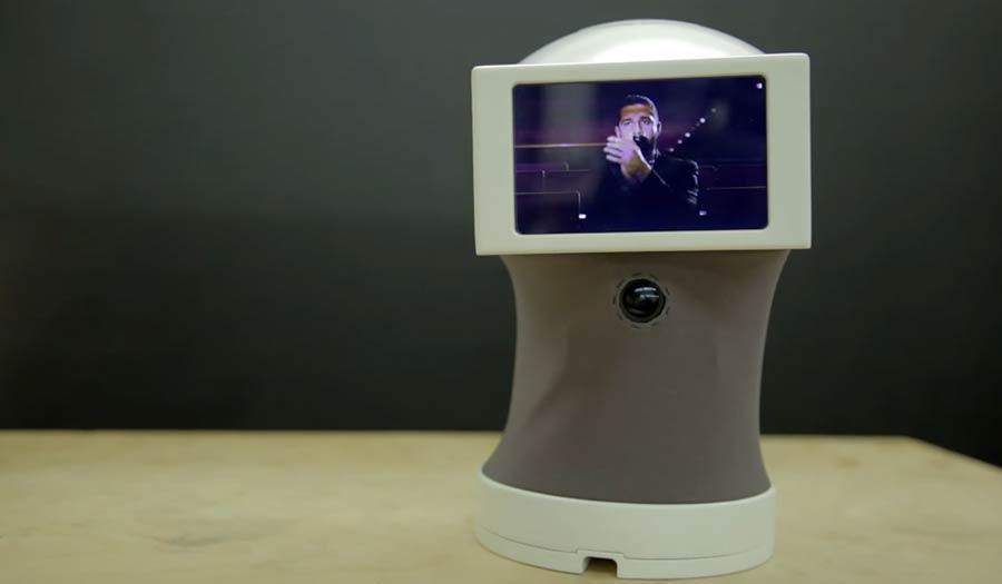 Roboter Peeqo redet in GIF-Bildern