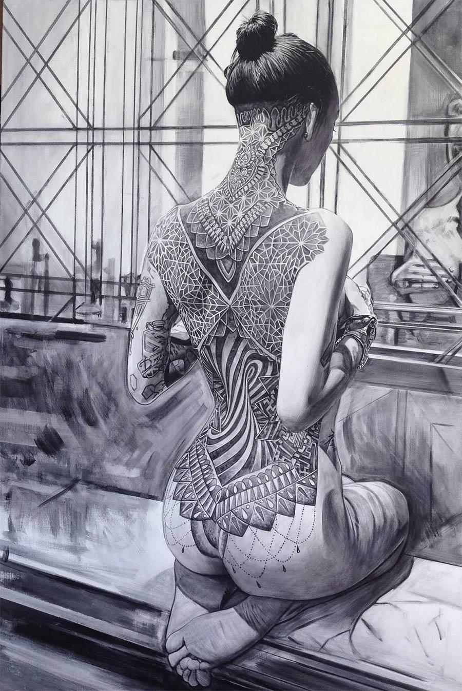 Die gemalten Tattoo-Girls von Philip Munoz