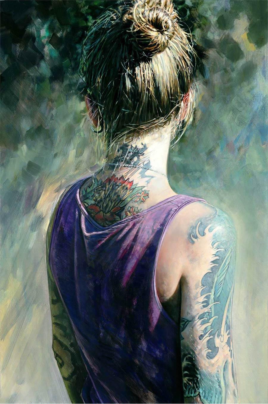 Tattoo Girl Von - Die gemalten tattoo girls von philip munoz philip munoz_05