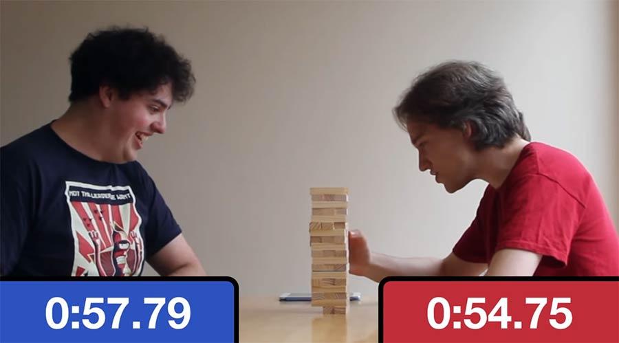 Jenga mit Schachuhr