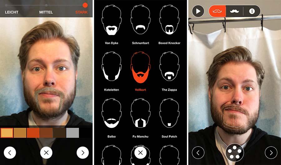 Die 'Style Me'-App lässt euch Bärte anprobieren