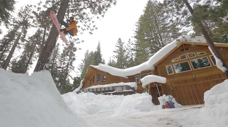 Eine Minute Snowboard-Spaß