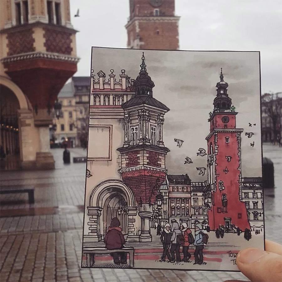 Jede Stadt der Europareise zeichnerisch festhalten drawbackpacking-Maxwell-Tilse_03