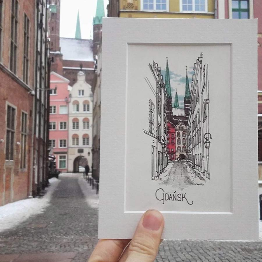 Jede Stadt der Europareise zeichnerisch festhalten drawbackpacking-Maxwell-Tilse_05