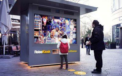 ReiseKiosk überrascht Passanten mit Livestream zu Händlern aus aller Welt