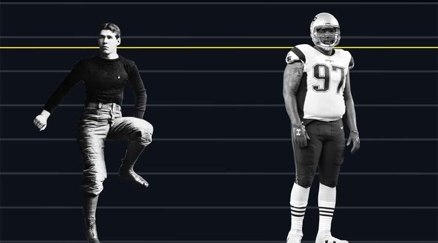 Wieso die NFL Linemen immer kräftiger wurden