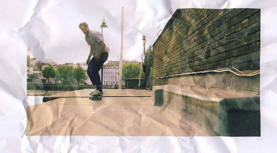 Skateboard-Stopmotion mit Ausdrucken paper-cut-london
