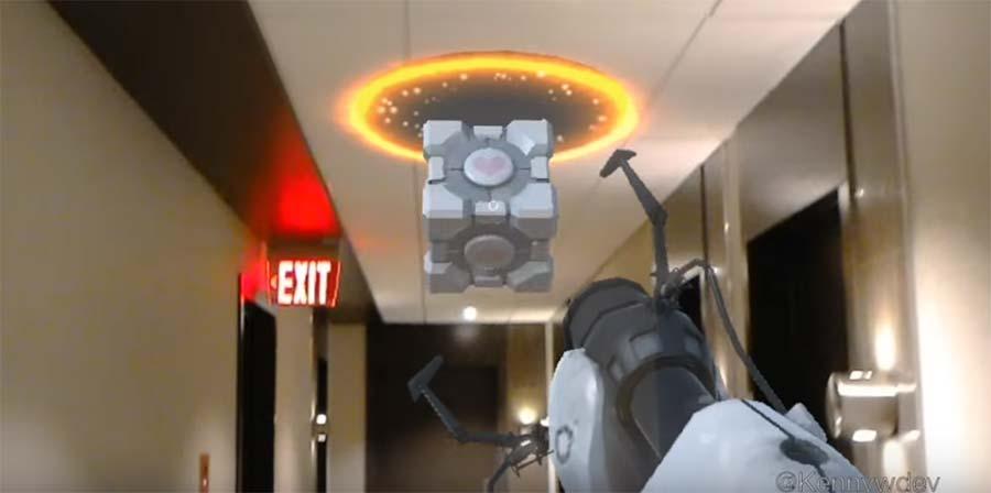 Mit der HoloLens Portal spielen portal-hololens
