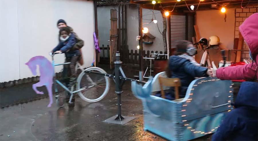 Aus Fahrrad wird Karussell