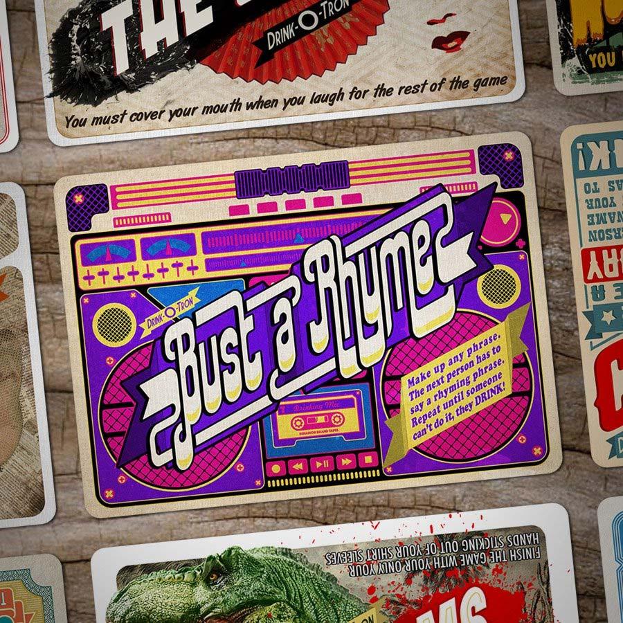 Drink-O-Tron ist ein sehr schön gestaltetes Trink-Kartenspiel Drink-o-tron-game_04