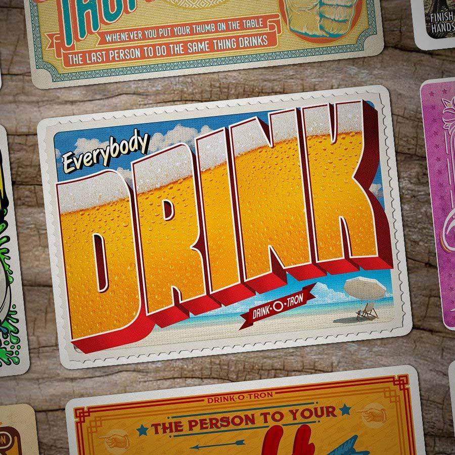 Drink-O-Tron ist ein sehr schön gestaltetes Trink-Kartenspiel Drink-o-tron-game_05