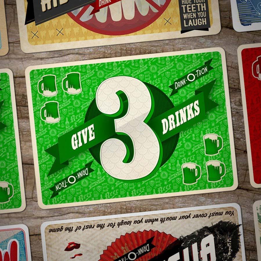 Drink-O-Tron ist ein sehr schön gestaltetes Trink-Kartenspiel Drink-o-tron-game_06
