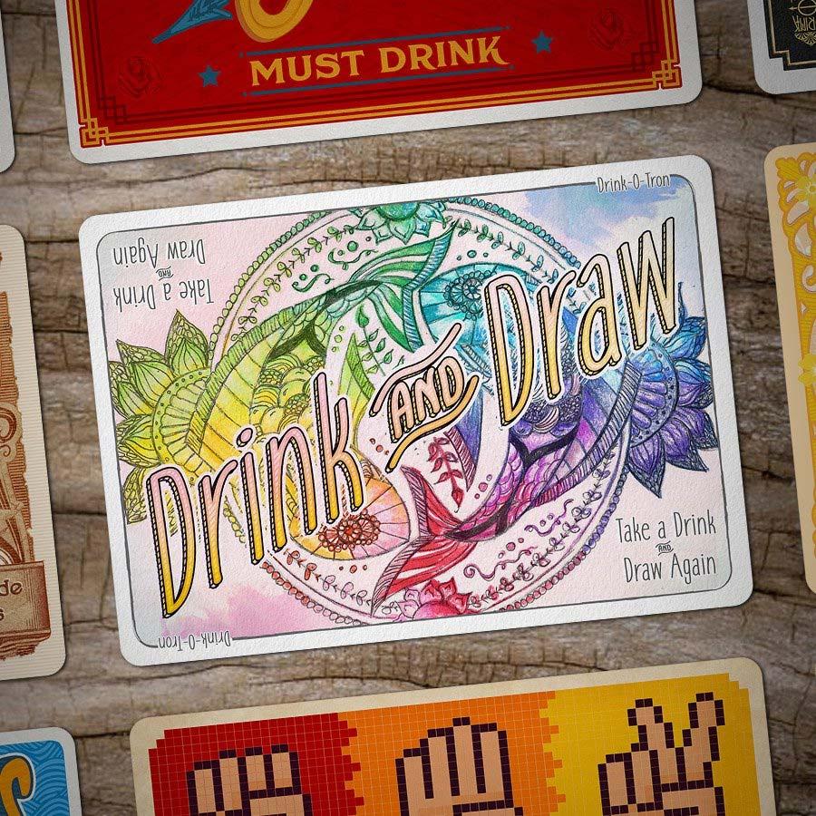 Drink-O-Tron ist ein sehr schön gestaltetes Trink-Kartenspiel Drink-o-tron-game_07