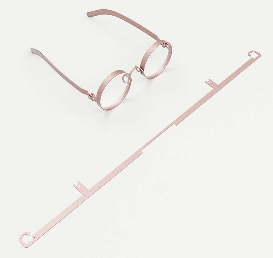Ganzes Brillengestell aus einer Lage Metall FRAME-eyeglasses_02