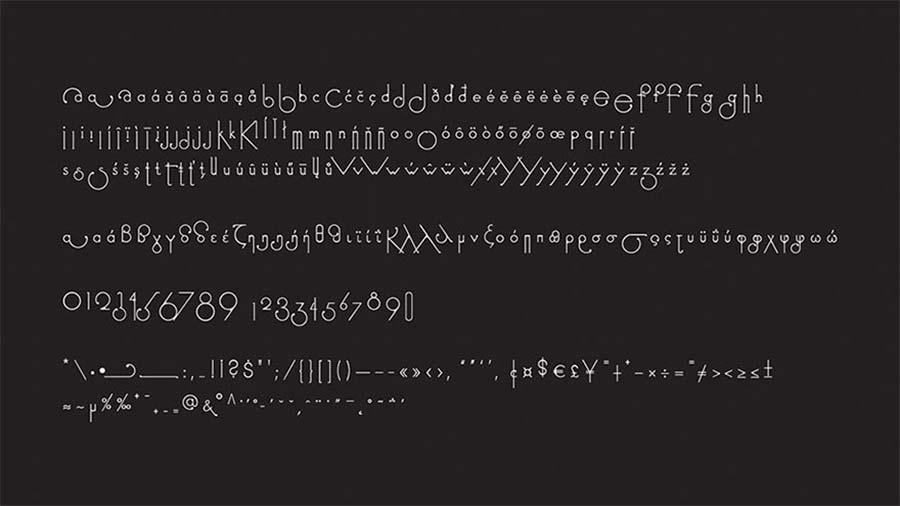 Schriftart passt sich beim Schreiben der Buchstabenfolge an Futuracha-Pro-Font-readjusts-itself_04