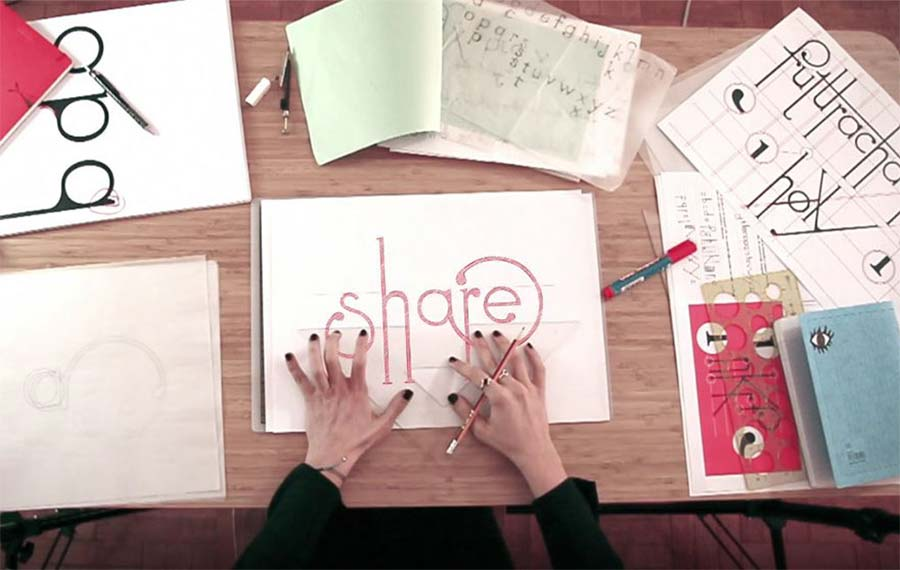 Schriftart passt sich beim Schreiben der Buchstabenfolge an Futuracha-Pro-Font-readjusts-itself_05