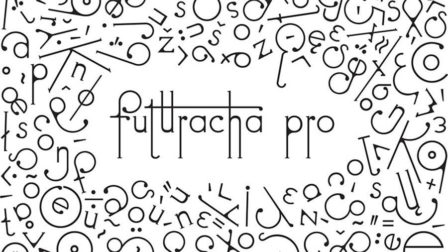 Schriftart passt sich beim Schreiben der Buchstabenfolge an Futuracha-Pro-Font-readjusts-itself_06