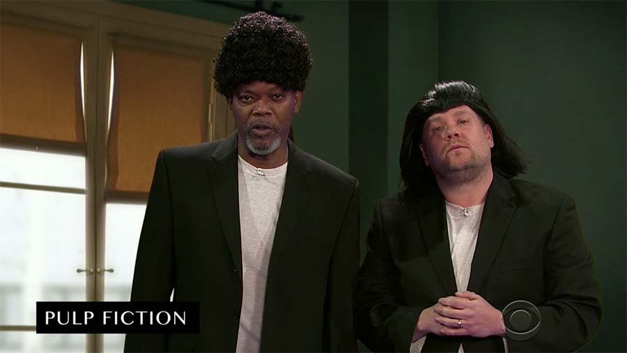 Samuel L. Jackson spielt all seine Filme binnen 10 Minuten nach Samuel-L-Jackson-Acts-Out-His-Film-Career