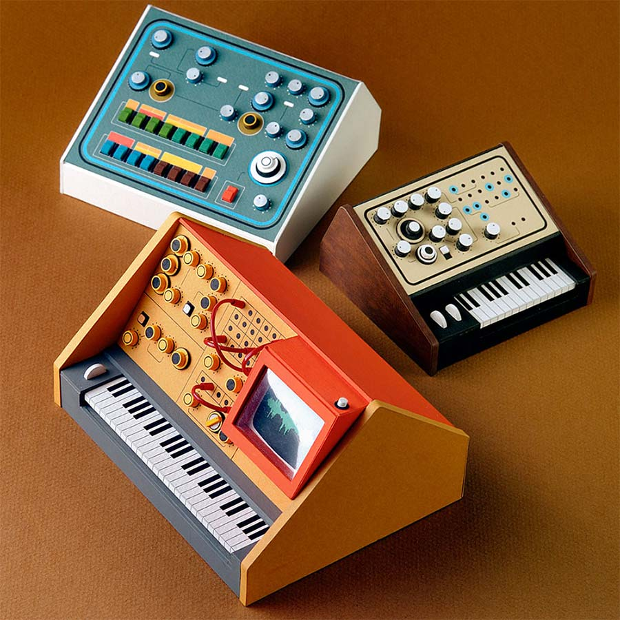 Retro-Synthesizer aus Papier analogue-miniatures-paper-synthesizers_02