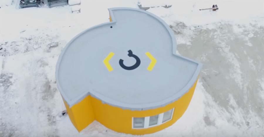Ein 3D-gedrucktes Wohnhaus