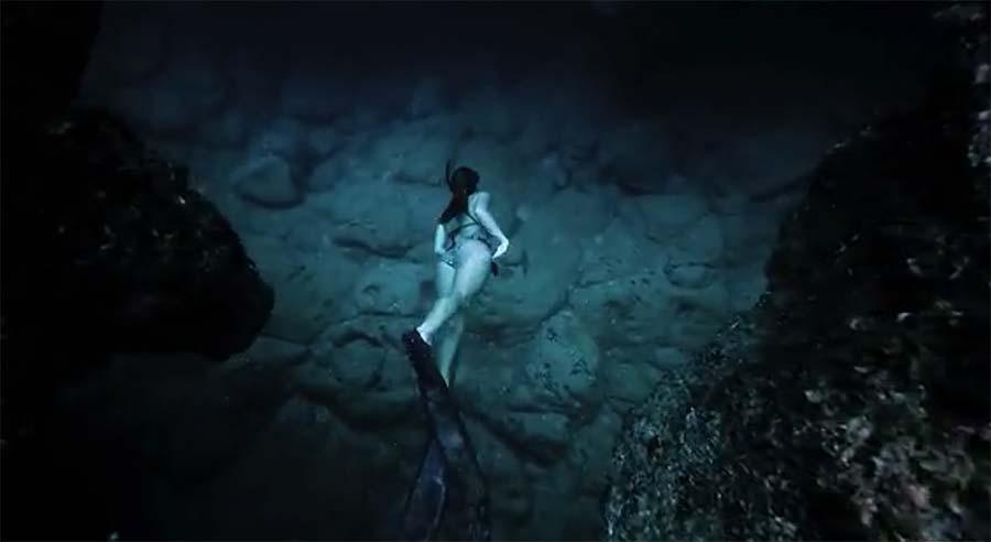 Mit der Steadycam durch die Unterwasserhöhle
