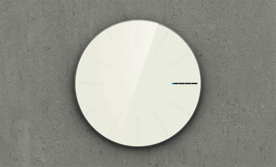 Wanduhr mit Ladebalken statt Minutenzeiger obligatory-designer-clock_05