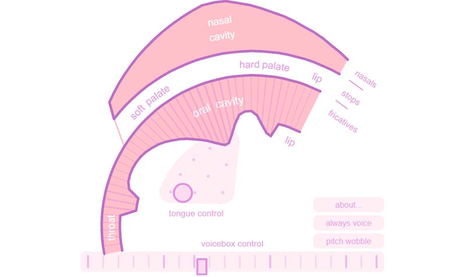 Screenshot des Tools Pink Trombone