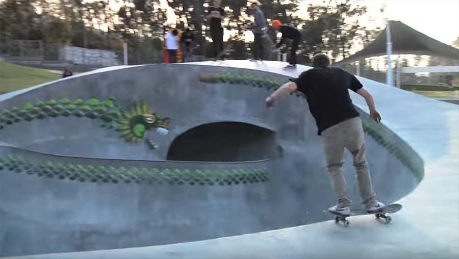 Ausgefallener Skatepark in Mexiko