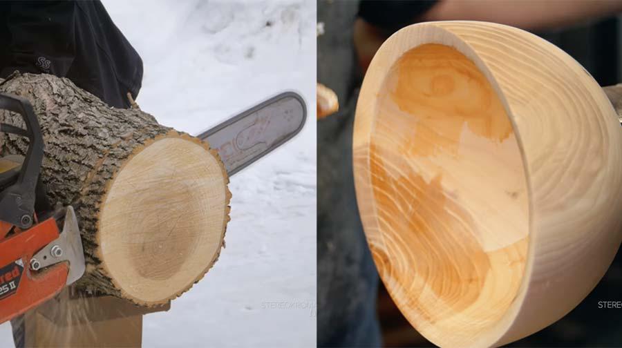 Aus einem Baumstamm eine Holzschale fertigen woodturning-a-bowl-from-a-log