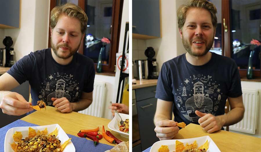 Wir haben uns zum Vier-Schärfe-Menü herausgefordert Doritos-sweet-chili-pepper-hot-challenge_14