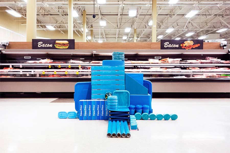 Im Supermarkt nach Farben sortieren